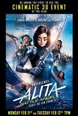 Alita: Battle Angel - Early 3D Fan Event Movie Poster