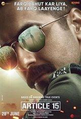 Article 15 (Hindi) Movie Poster
