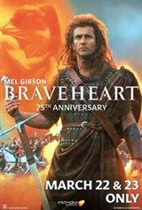 Braveheart 25th Anniversary Movie Poster