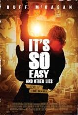 It's So Easy and Other Lies Movie Poster