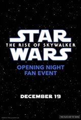 Opening Night Fan Event: Star Wars : The Rise of Skywalker 3D Large Poster