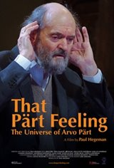 That Part Feeling - the Universe of Arvo Part Movie Poster