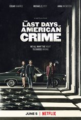 The Last Days of American Crime (Netflix) Movie Poster