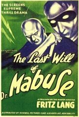 The Testament Of Dr. Mabuse Movie Poster