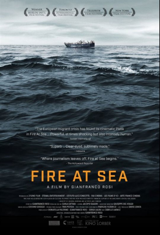 Fire at Sea Large Poster