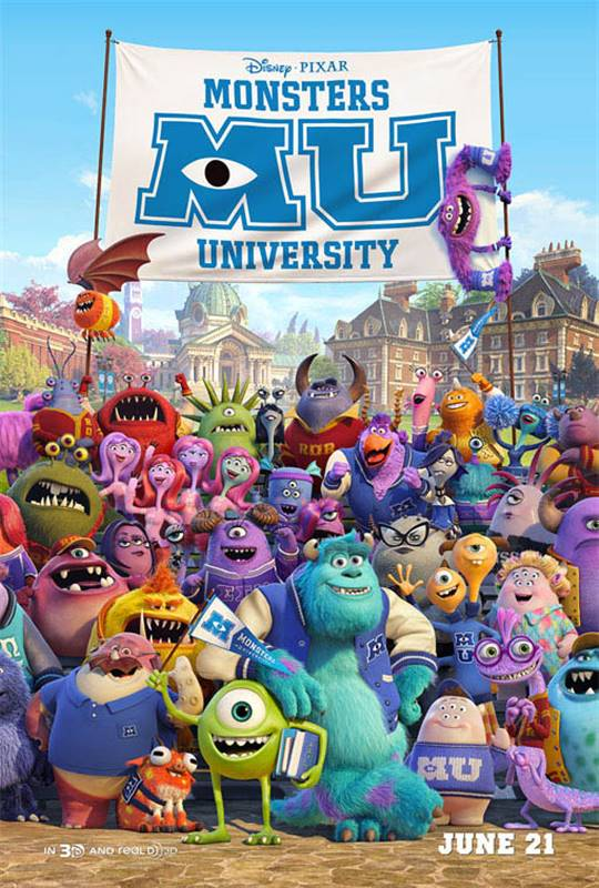 Monsters University  Large Poster