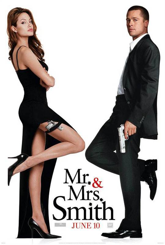 Mr. & Mrs. Smith Large Poster