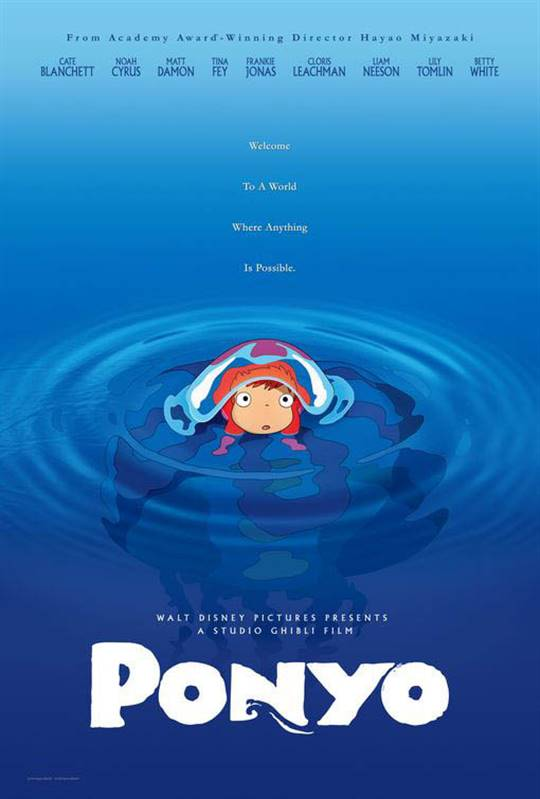 Ponyo (Dubbed) Large Poster