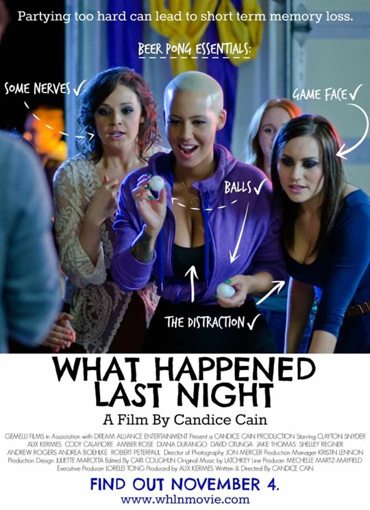 What Happened Last Night Large Poster