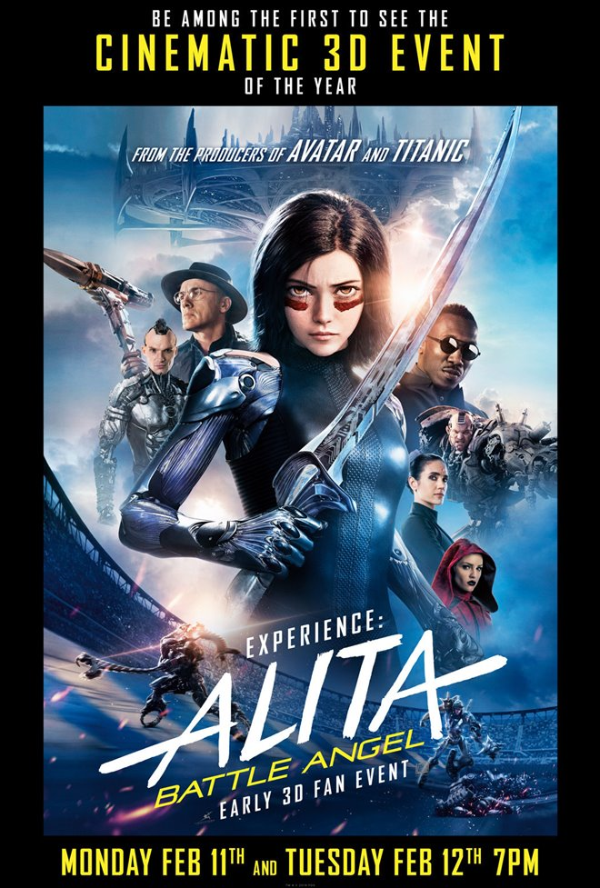 Alita: Battle Angel - Early 3D Fan Event Large Poster
