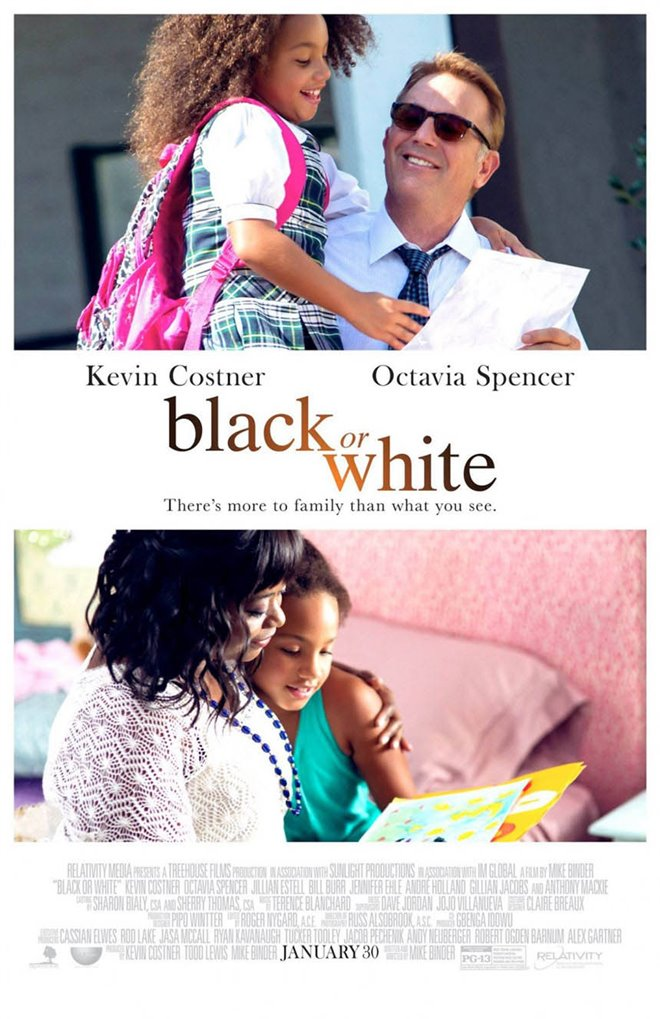 Black or White Large Poster