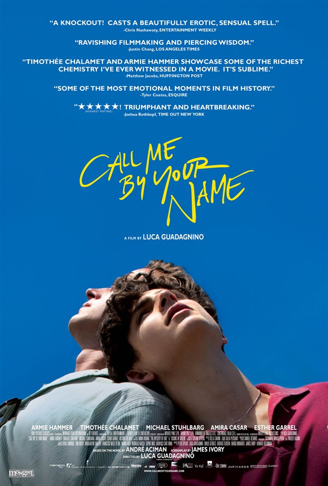 Call Me by Your Name Large Poster