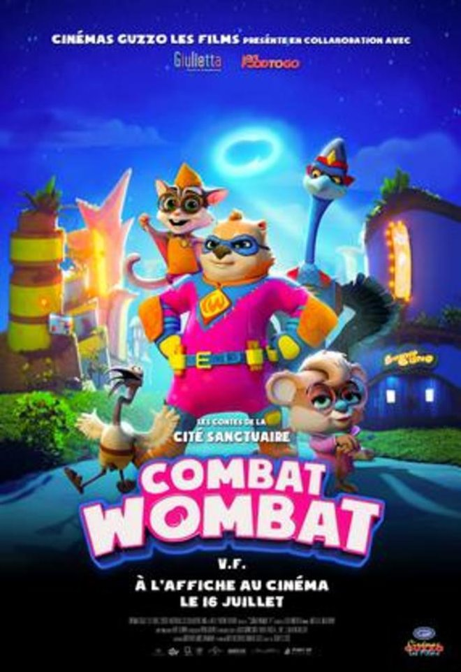 Combat Wombat Large Poster