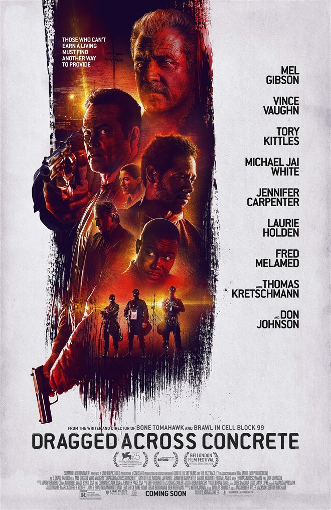 Dragged Across Concrete Large Poster