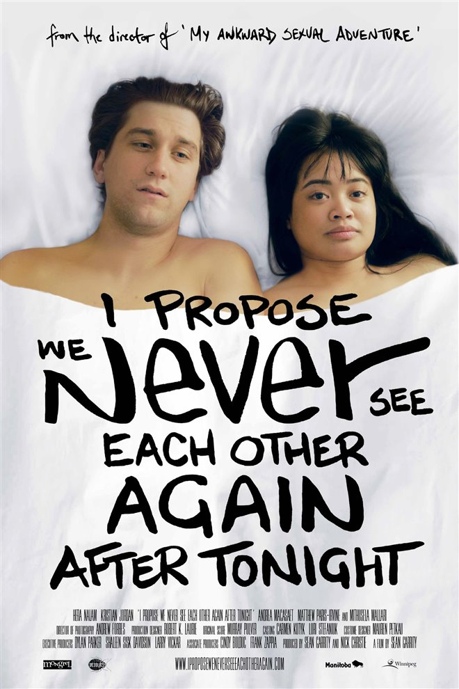 I Propose We Never See Each Other Again After Tonight Large Poster