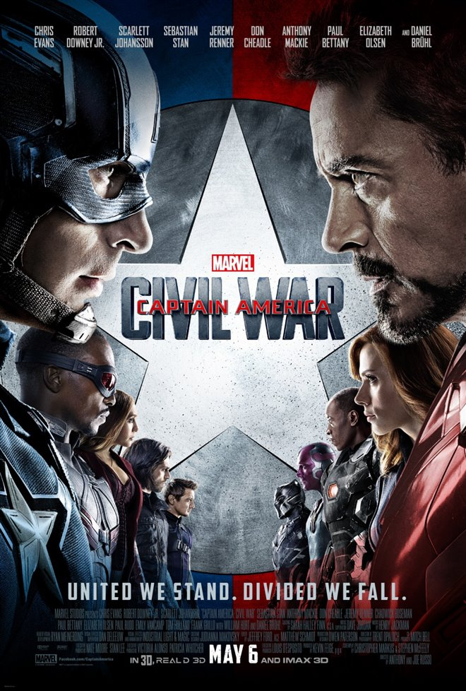 Marvel Studios 10th: Captain America: Civil War (IMAX) Large Poster