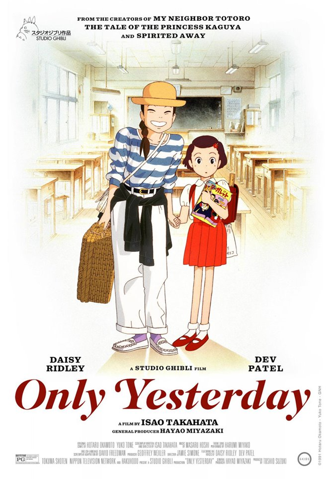 Only Yesterday (Dubbed) Large Poster