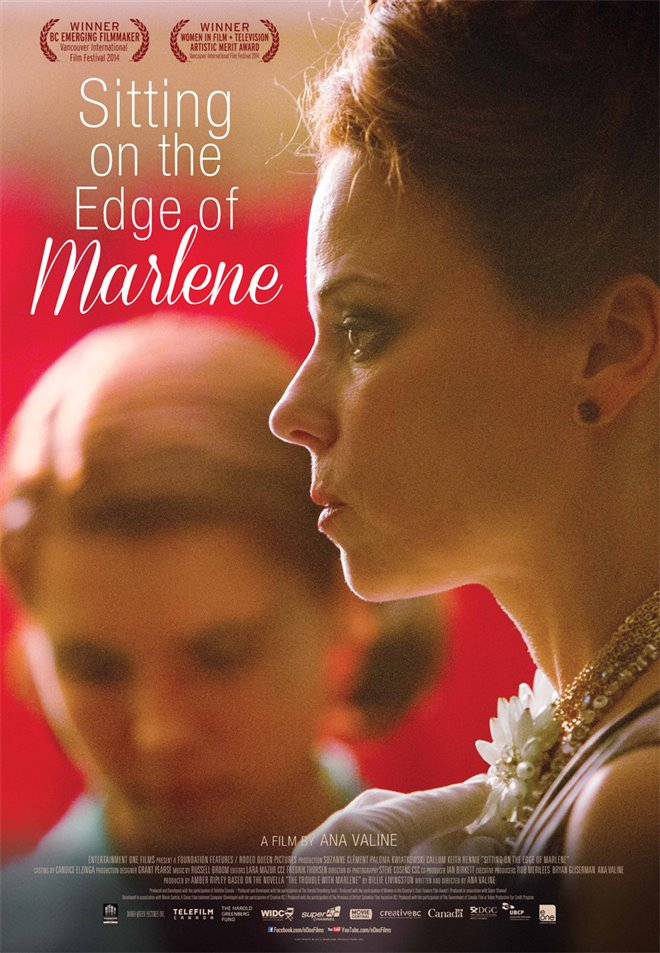Sitting on the Edge of Marlene Large Poster