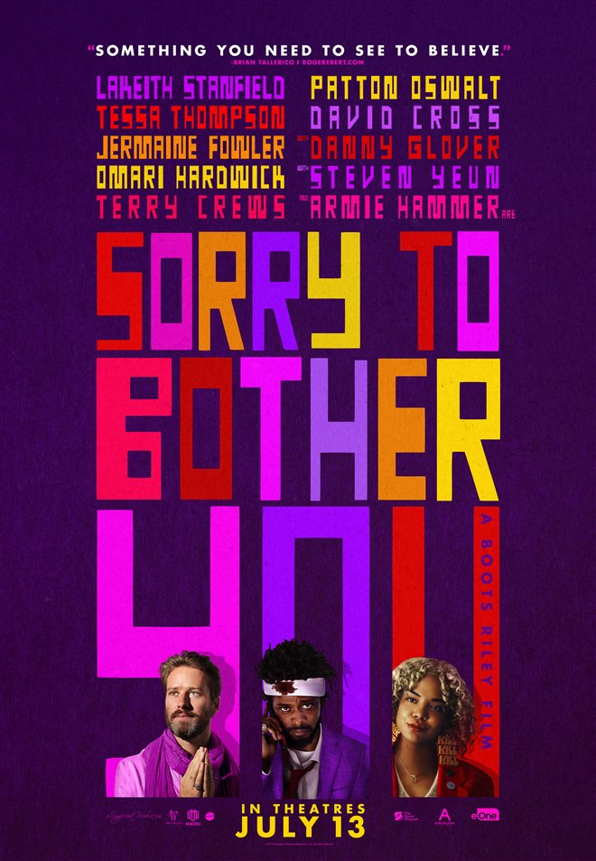 Image result for sorry to bother you poster