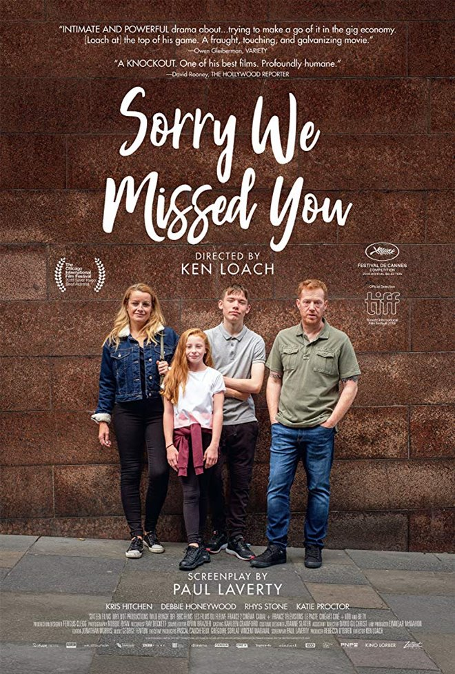 Sorry We Missed You Large Poster