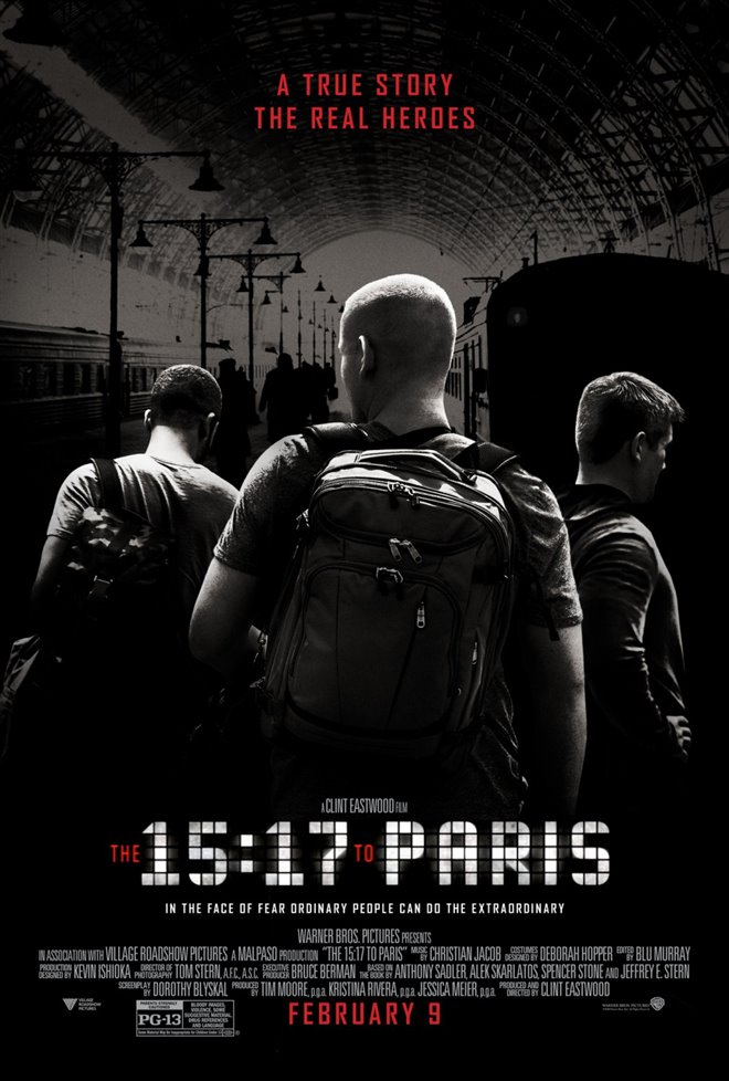 The 15:17 to Paris Large Poster