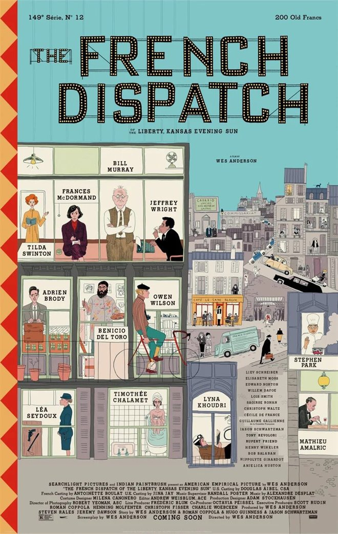 The French Dispatch Large Poster