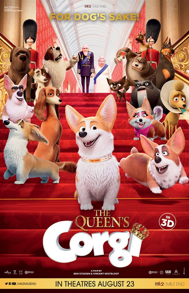 The Queen's Corgi Large Poster