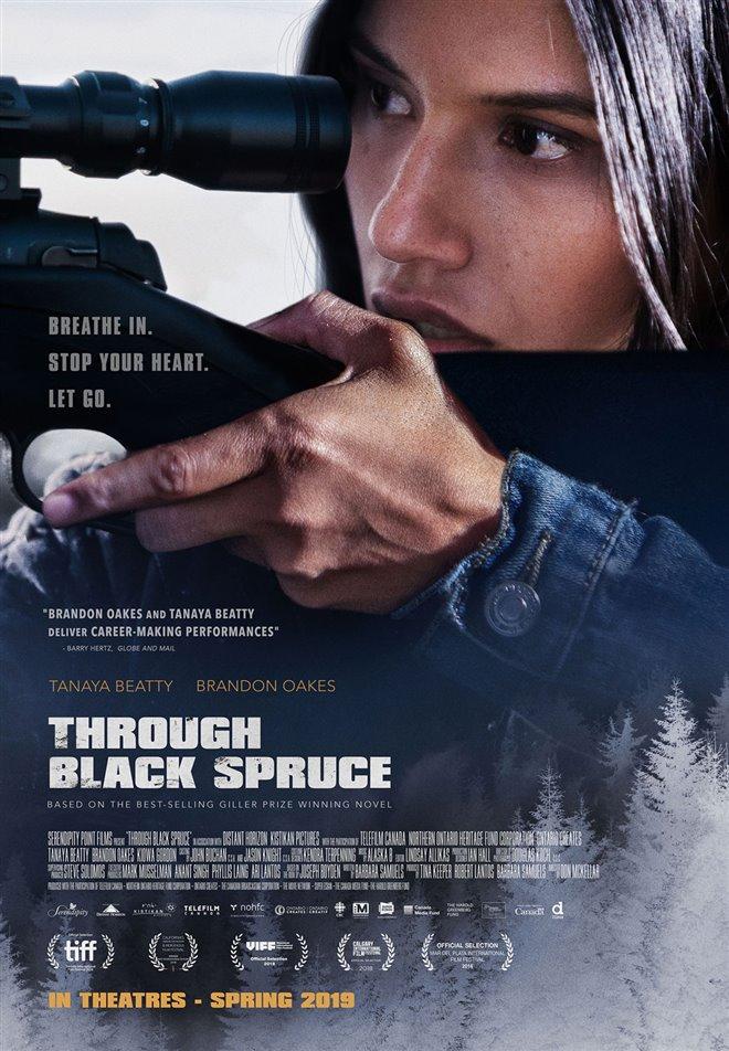 Through Black Spruce Large Poster