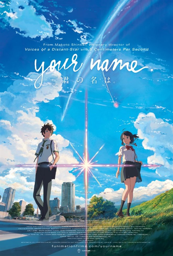 Your Name. (Dubbed) Large Poster