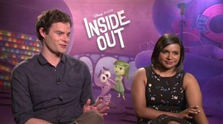 Bill Hader Mindy Kaling Inside Out Interview Celebrity Interviews