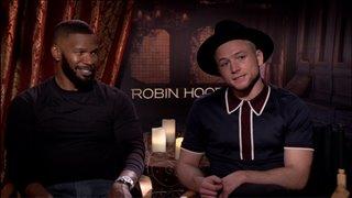 Jamie Foxx Taron Egerton Talk Robin Hood Interview  C2 B7